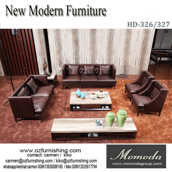 Hd48 Big Factory Hot Sale Living Room Creative Used Curved Leather Cool Living Room Leather Sofas Creative
