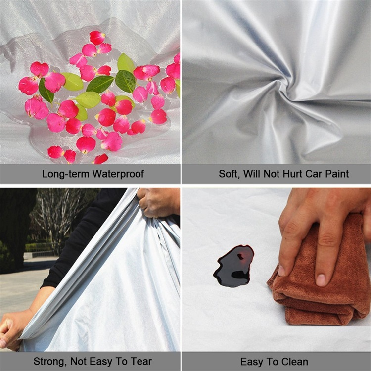 Non-Woven Waterproof Breathable Pickup Truck Cover Poly Fabric Roof RV Cover