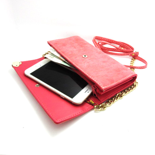 Universal Xiegua zipper shoulder bag phone package coin purse for iphone 5 5s 5c free shipping