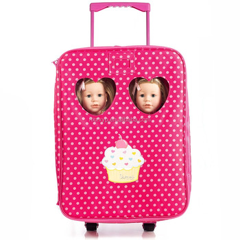 Double Trolley Doll Travel Case With Bed And Bedding Fits All Doll American Girl Buy 18 Doll Travel Case 18 Doll Baby Folding Travel Case Doll