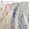 Embroidered tulle fabric bead bridal dress making lace fabric for bridal