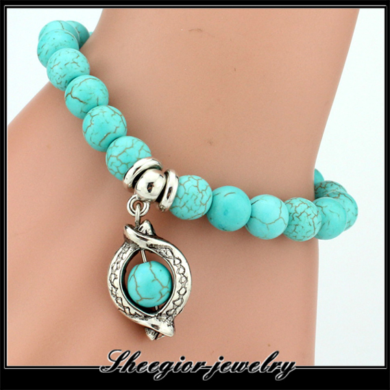 10Styles Pendant New Arrival Turquoise Beads Bracelet ...