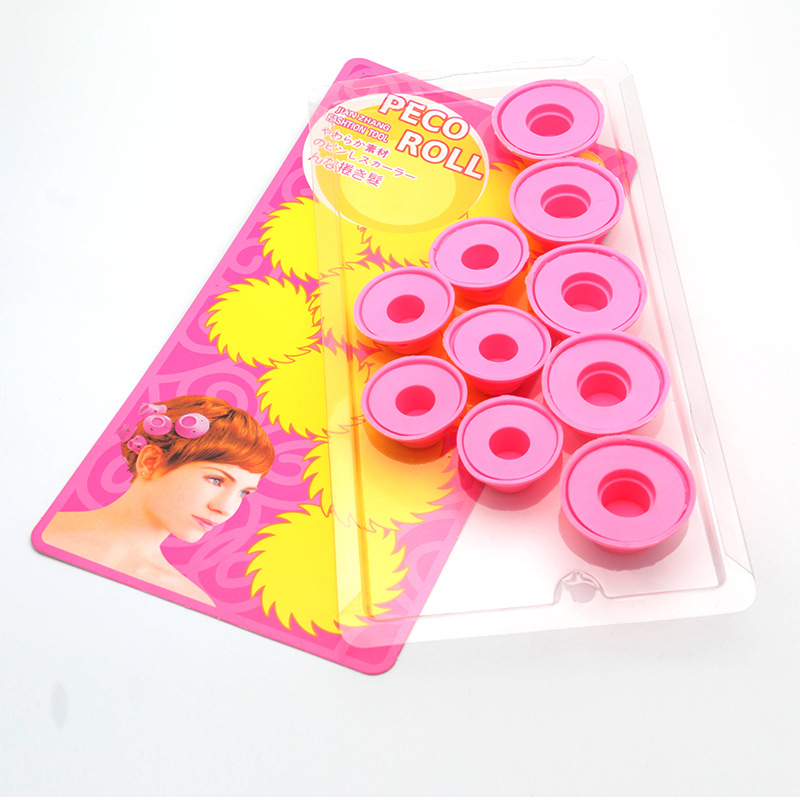 Hot Curler Makers Soft Silicone Curl Tool Diy Styling Hair Rollers 10pcs