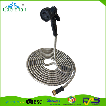 As Seen On Tv Metal Braided Hose 304 Stainless Steel Garden Hose
