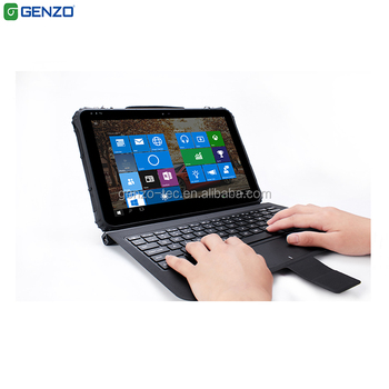 Rugged Tablet 12 inch Android Industrial Laptop Win10 PRO With Keyboard Built-in 4G LTE NFC 1/2D RS232,RS485,13000mAh