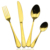 Free shipping Gold plated cutlery wholesale