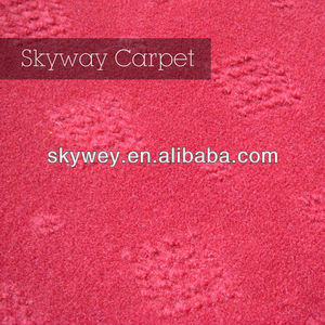 Needle punched top dry rose color carpet for trade show
