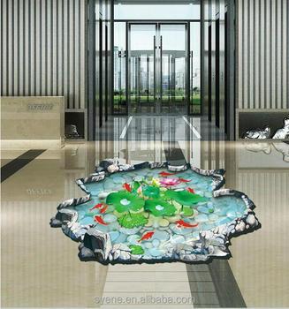 3d Effekt Kreative Lotus 3d Boden Aufkleber Abnehmbare Pvc Badezimmer  Toilette Aufkleber Transparent Wandtattoo Wohnkultur Tapete - Buy Bad Wc ...