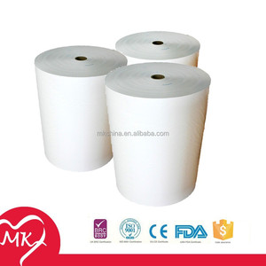 100% Virgin wood pulp toilet tissue paper roll jumbo base paper roll