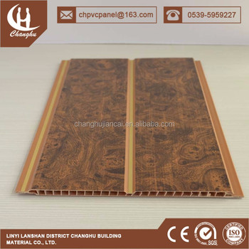 25cm South Africa Wall Covering Wallpaneling Designing Indoor Panel With Wooden Grain