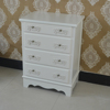 2016 hot selling modern white pine 4 drawers chest