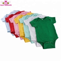 Wholesale Cotton Short Sleeve Infant/Toddler/Baby Bodysuit Summer Clothes/Clothing for Baby