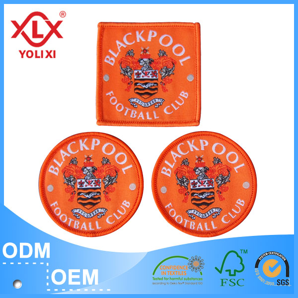 Cheap Clothing badge best quality woven patch manufacturer