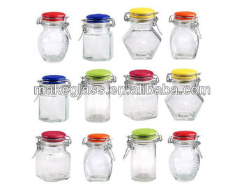 Air Small Gl Jar With Ceramic Lid Clip And Mat Storage