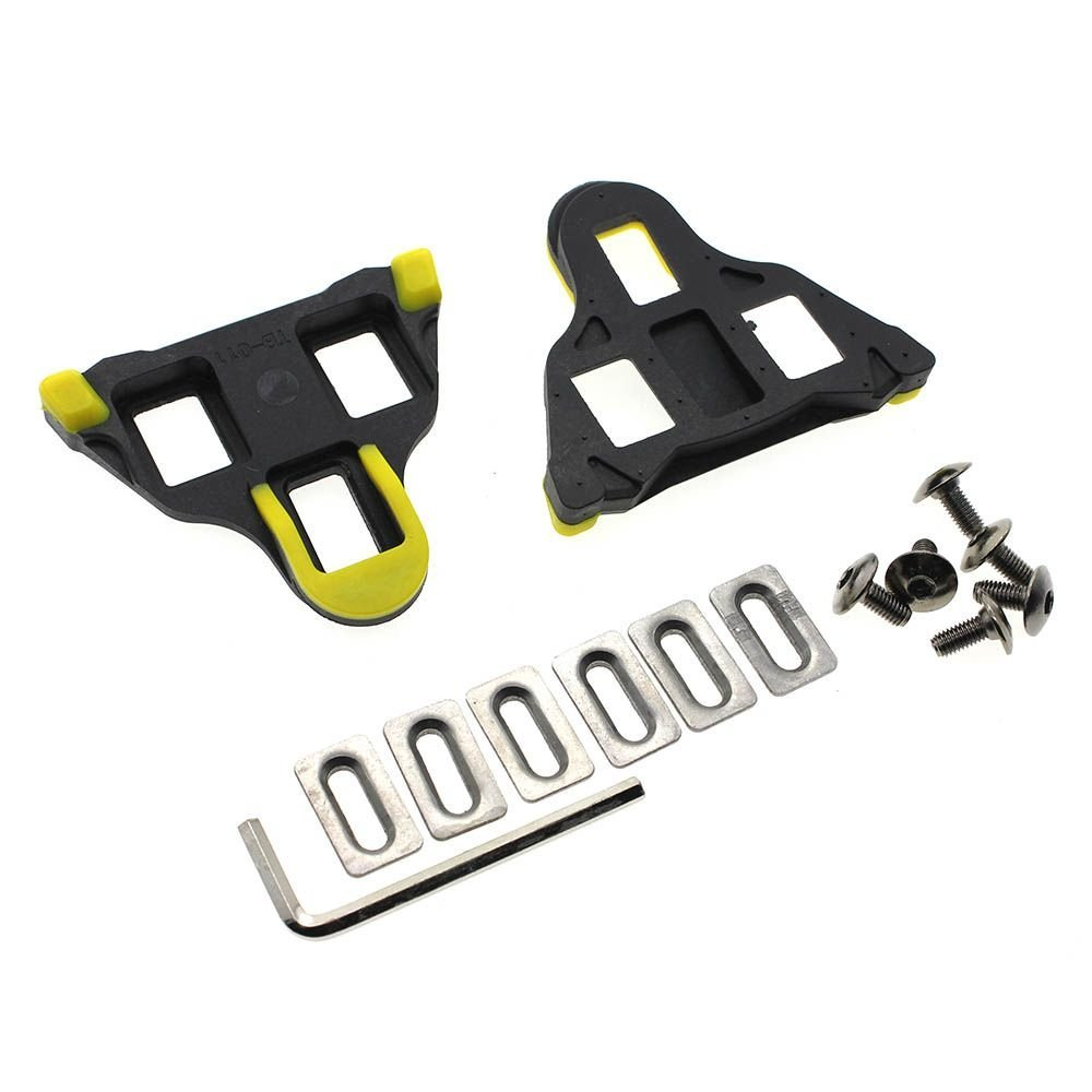 VANKER Self-Locking Cycling Pedal Bike Bicycle Cleats For Shimano Road Bicycle Pedal Yellow