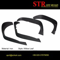 Abs Plastic Flat Fender Flares Wheel Arch For Jeep Jk 2007-2015 ...
