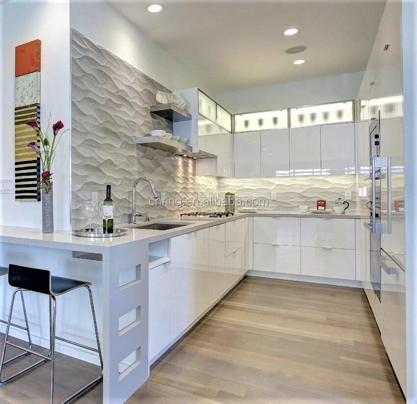Moderne U Form Küche Design 18mm Mdf-platte Wohnmöbel Lack Küchenschrank  Mit Insel - Buy Moderne U Form Küche Design,Mdf Board Home Möbel,Lack Küche  ...