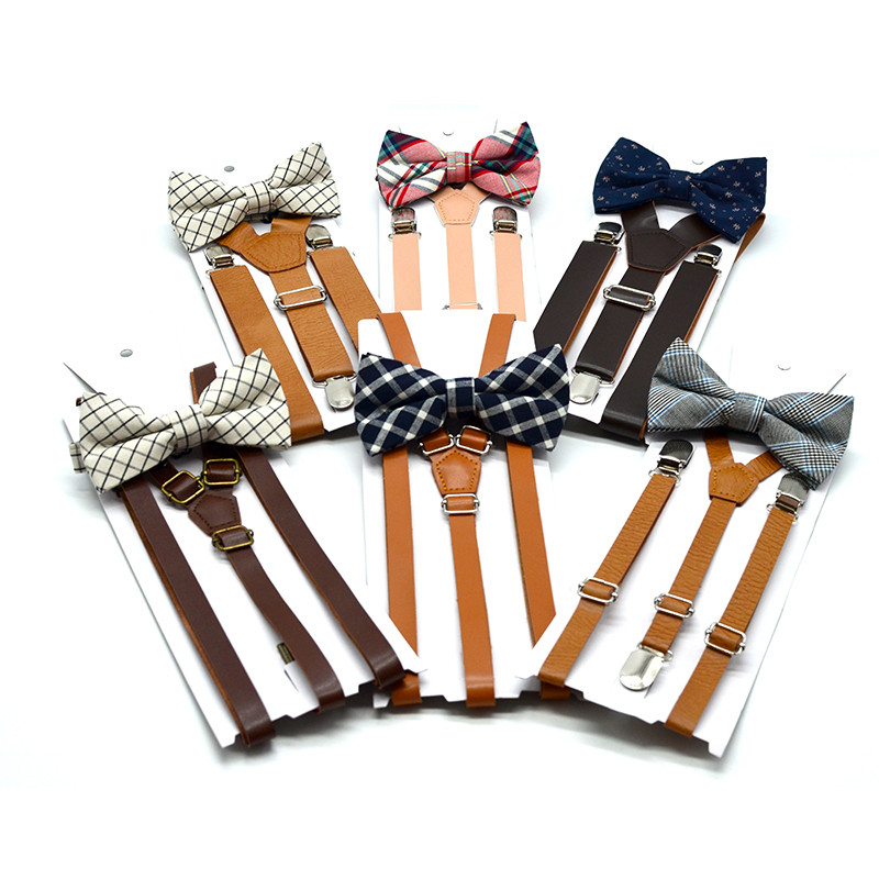 Wholesale Brown Leather <strong>Suspender</strong> Groomsmen Gifts Y Back Design Adjustable <strong>Mens</strong> Leather <strong>Suspenders</strong> For <strong>Men</strong>