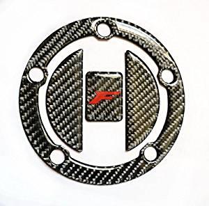 Suzuki Hayabusa CARBON FIBER CHROME Tank Cap Filler Cover Sticker pad protector
