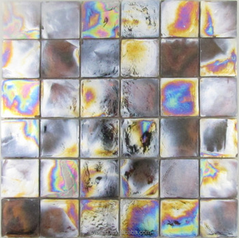 popular in american stunning square iridescent black glass mosaic rh alibaba com Black and Brown Iridescent Glass Tile Backsplash Iridescent Subway Tile Backsplash
