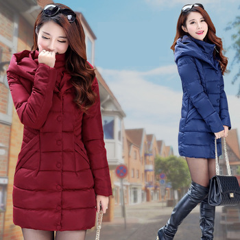new coming women korean style fashion long coat plus size winter down jacket