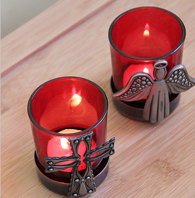 Wholesale Christmas Cheap Angel Church candle holder for Decoration