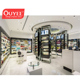 OEM/ODM Fashion Boutique Stainless Steel Perfume Display Cabinet Stand Counter At Malls