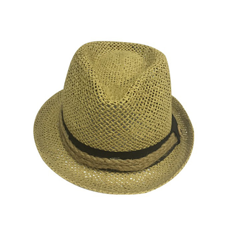2a4d37993a4 Custom logo free easy fashion straw paper hats newest style male summer  panama hat