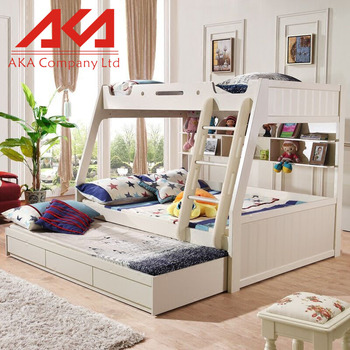 Hot Sale Cheap Bedroom Furniture Kids Modern Wood Bunk Beds For Sale