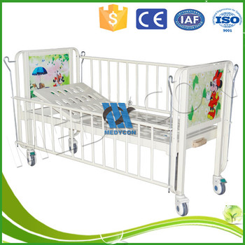 Cartoon Pattern One Crank Pediatric Hospital Bed   Buy Pediatric Hospital  Bed,Baby Crib Hospital Bed,Stainless Steel Baby Bed Crib Product On ...