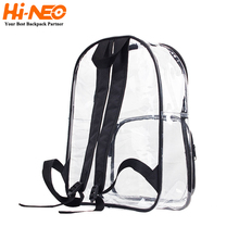 Multifunction Daily Outdoor Custom Clear PVC Transparent Casual Backpack