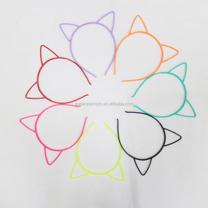 3170318-11 simple design Plastic head band, cute colorful animal ear headband