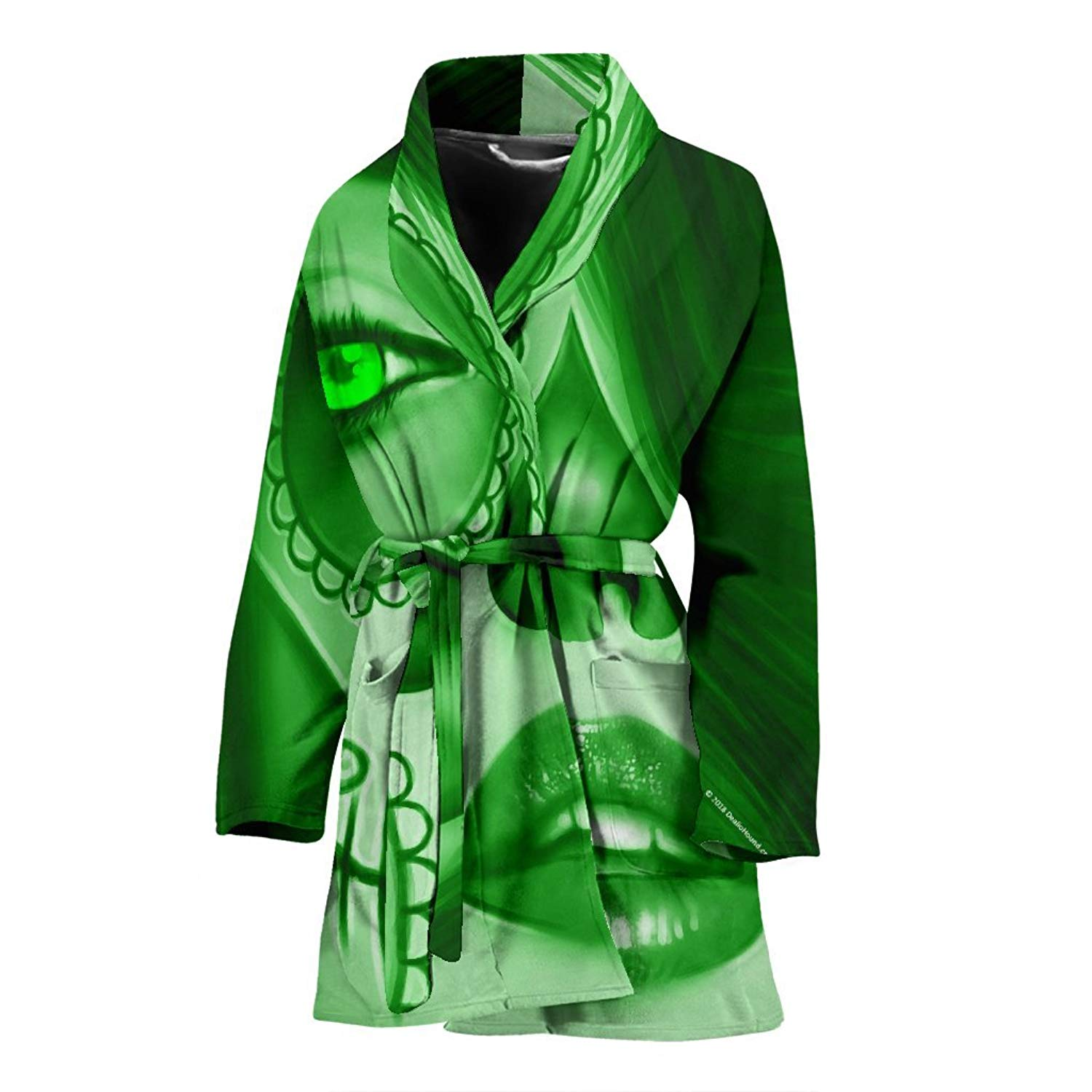 2e7cefcb50 Get Quotations · DealioHound Calavera Design  3 Bathrobe for Women and Teen  Girls (Green Emerald)