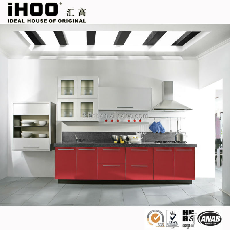 Vinyl Wrap Kitchen Cabinets: High Gloss Vinyl Wrap Doors Kitchen Cabinets With