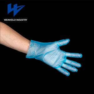 eco-friendly disposable plastic food grade pe glove handling
