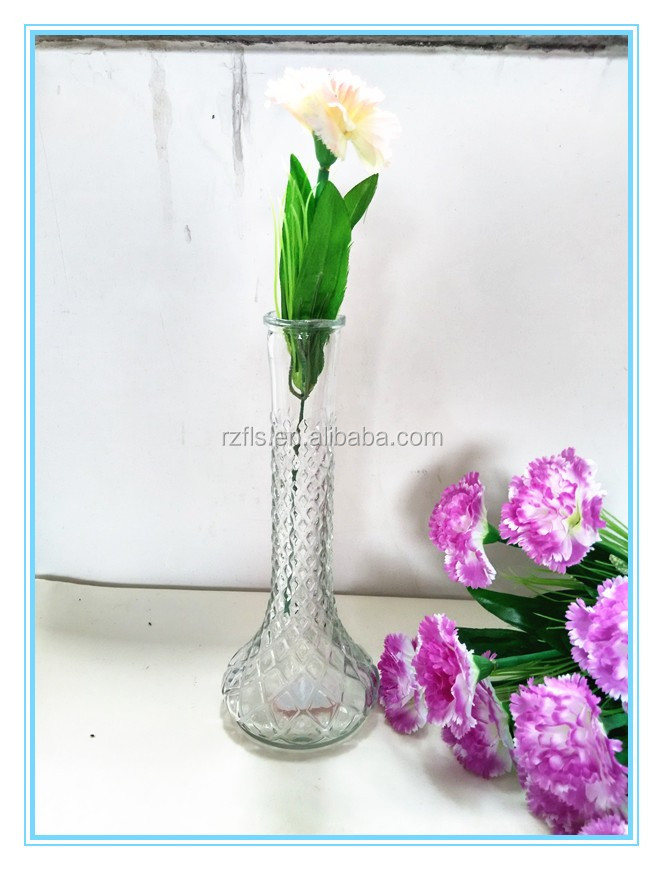 2017 Fulaishan Home decor clear glass vase for home decoration