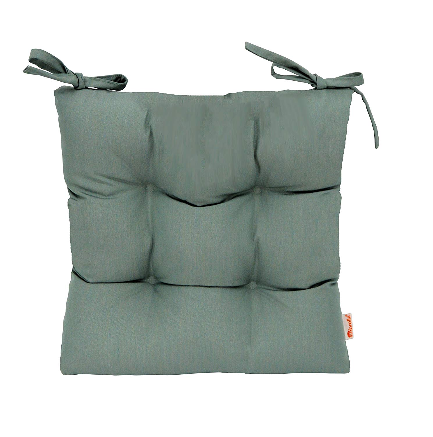 """RSH Décor Indoor/Outdoor Sunbrella Canvas Spa Blue Green Tufted Seat Cushion with Ties for Dining/Patio Chairs - Choose Size (18"""" x 18"""")"""