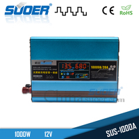 Suoer New Intelligent 1000w DC 12V to AC 220v Power Inverter with Built-in Solar Controller
