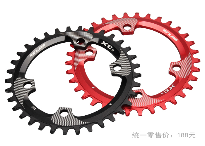 RockBros MTB Mountain Bike Bicycle 7075 Aluminium Crankset Disc ChainWheel Tooth Slice 104BCD 32T 34T 36T Round/Oval Chain Wheel
