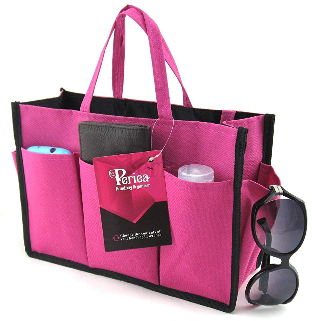 Periea Handbag Organiser Large 11 Compartments Bright Pink Kristine