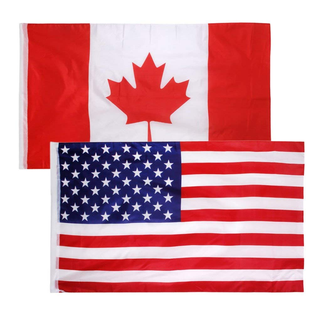 Buy USA CANADA FLAG Canadian American Embroidered Quality