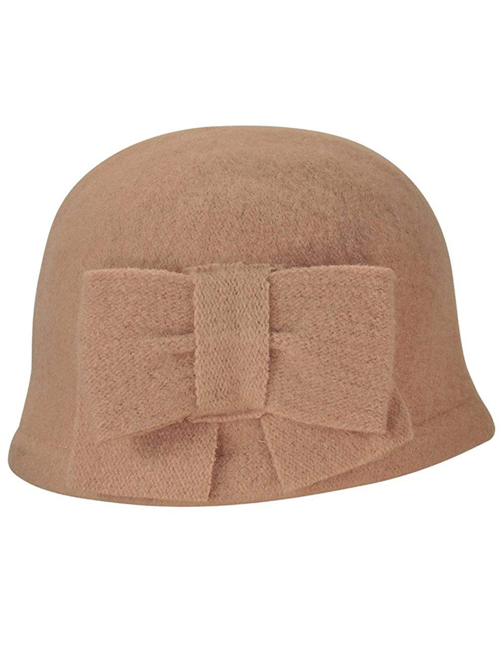57c34749aa3 Get Quotations · Dahlia Women s Daisy Flower Wool Cloche Bucket Hat