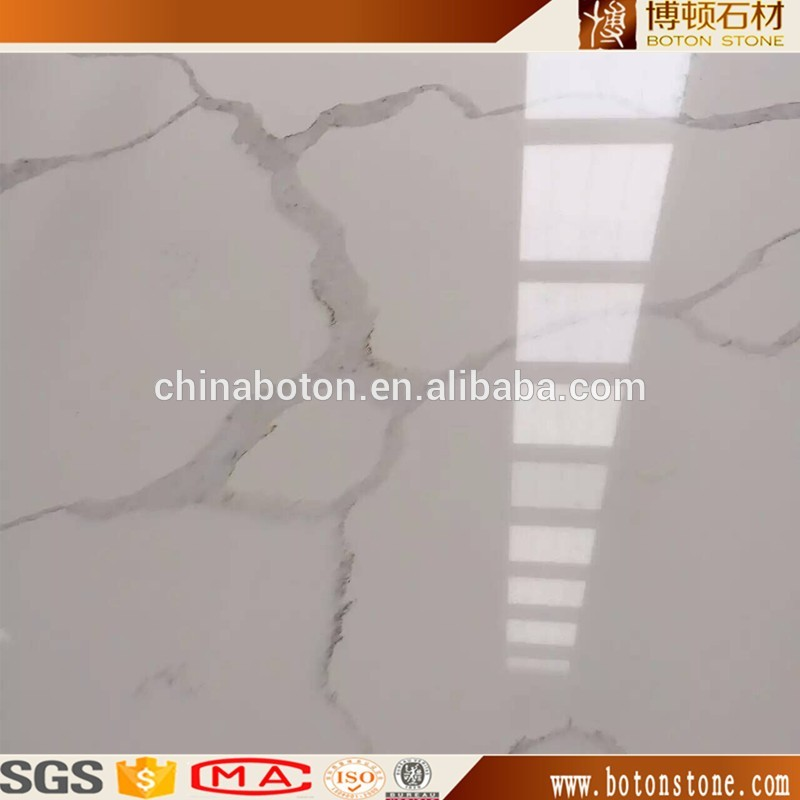 white quartz countertop with grey veins , luxury natural white marble look quartz stone 3200x1600 calacatta quartz slab price