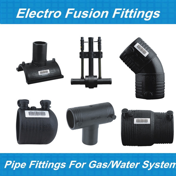 Electrofusion fitting hdpe pipe and jointer unequal tee