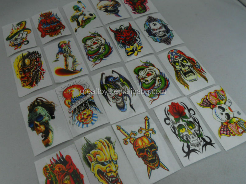 Temporary tattoo stickers for Body art Painting Party mixed designs