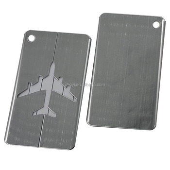 Personalized Luggage Tags Stainless Steel Airplane Luggage Tag For Travel Buy Airplane Luggage Tag Tags For Luggage Personalized Luggage Tags