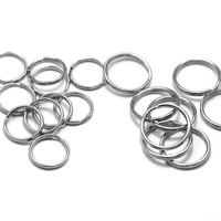 16mm blank stainless steel split rings keyring key ring