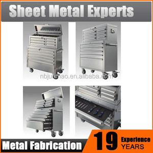 American Workshop 72 inch Heavy Duty Stainless Steel ball bearing tool chest Tool Trolley
