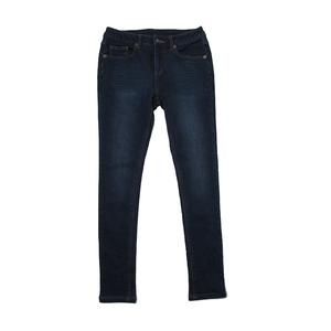 Trendy fleece lined jeans women winter jeans pants