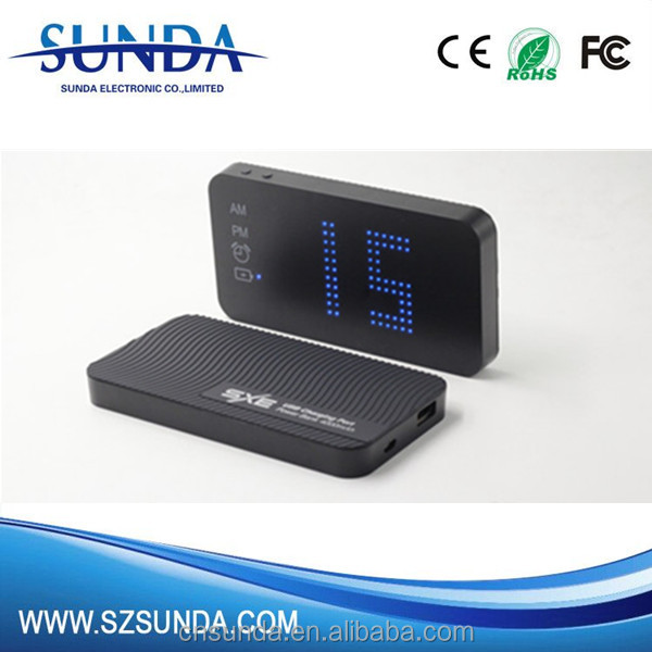 4000 mah lots of used laptops LED clock power bank colorful bestseller in usa